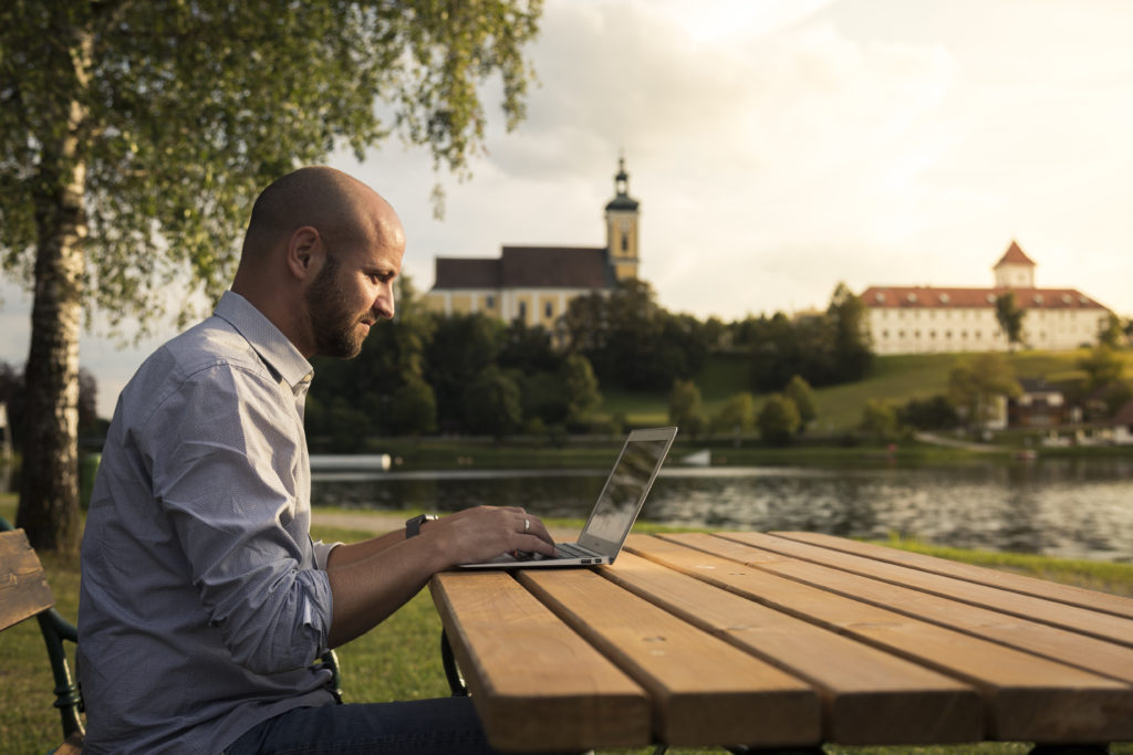 Waldhausen im Strudengau: Ziemlich schöner Arbeitsplatz